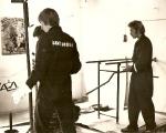 Arbetsdag i klubben på 80talet.Patrik Nielsen närmst i bild.